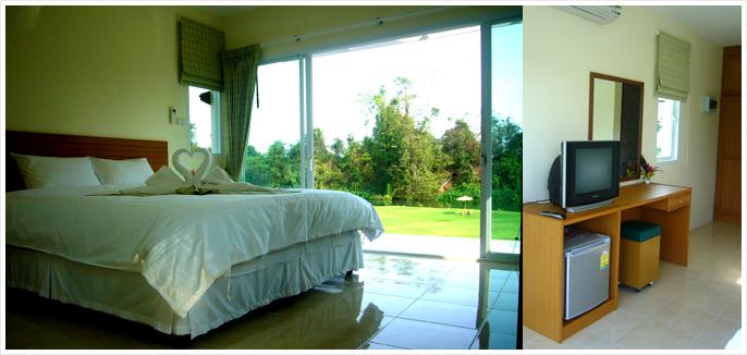 ภาพห้องพัก ห้องพัก บรรยากาศห้องพัก วิมานน้ำรีสอร์ท เพชรบุรี
